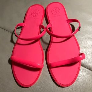 New pink Tory Burch jelly sandals size 9